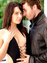 Horny Natalie Heart fucking James Deen by the pool